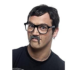 Limit Sport - Gafas bigote con brillantes, talla única (CM956)