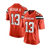 Pilang Football américain Sport, Cleveland Browns, 13# Beckham JR, Vêtements for Hommes Respirant Jersey (Color : Orange, Size : M)