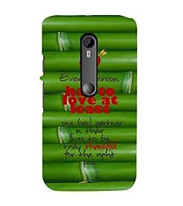 EPICCASE love atleast Mobile Back Case Cover For Moto G 3rd Gen (Designer Case)