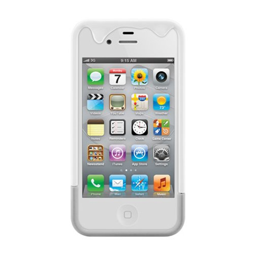 SwitchEasy - Custodia per iPhone 4, 4S, con fessura per carta Bianco