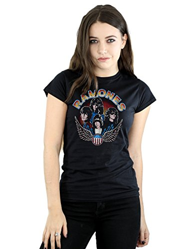 Ramones Mujer Vintage Wings Photo Camiseta XX-Large Negro