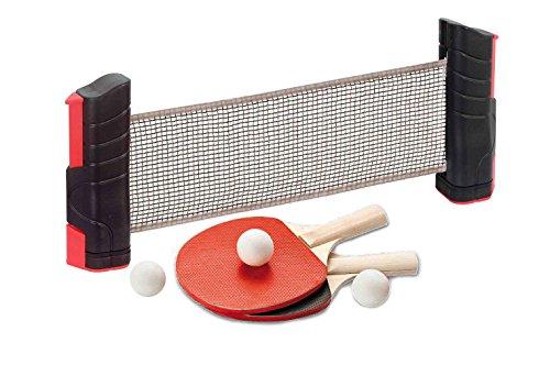 USG CSL732 Ensemble de ping-Pong avec Filet Extensible pour Table Noir