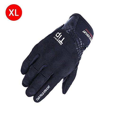 Prom-near 1 Paar Motorradhandschuhe Taktische Handschuhe Vollfinger Handschuhe für Motorrad Fahrrad Touchscreen-Design 3M reflektierendes Offsetdrucklogo