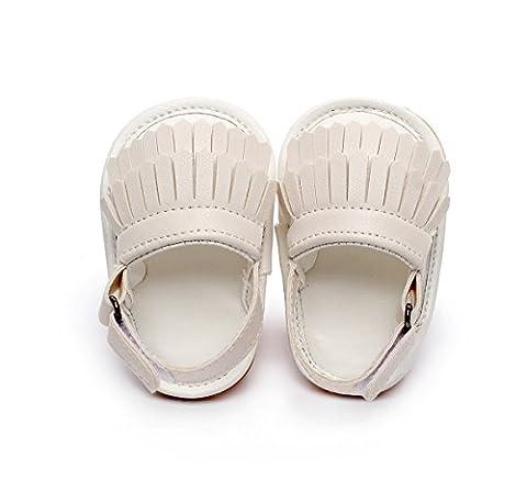 Little lucky baby Slip on, Gladiator bébé fille - blanc - blanc,