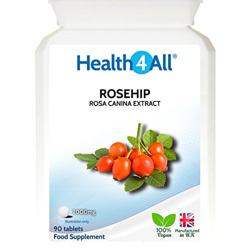 Health4All Rosehip 2000mg 90 Tablets | Antioxidant for Joints | 100% VEGAN | Free UK Delivery Test