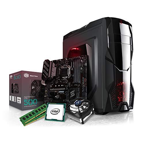 Kiebel Aufrüst Gamer PC (v9) - Intel Core i5-9600K 6-Kerner (6x3.7GHz | Turbo 4.6GHz) | 16GB DDR4-2666 | Aufrüst Gaming System, komplett vormontiert und getestet [182232] - Surround-system-basis
