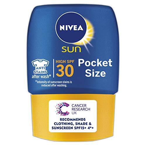 NIVEA SUN Suncream Pocket Size Lotion SPF 30, Protect & Moisture, 50 ml