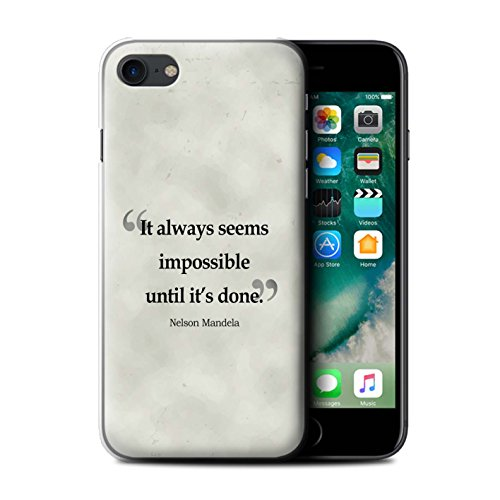 Stuff4 Hülle / Case für Apple iPhone 7 / Henry Ford Muster / Berühmte Zitate Kollektion Nelson Mandela
