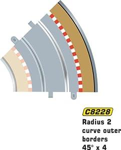 Super Slot 500008228 - Borde exterior R2 TIRA de 4 piezas, Rennbahnhzubehör Importado de Alemania