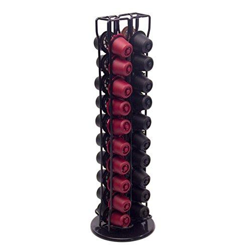 Househome - Dispensador de cápsulas de café, 40 cápsulas de café, organizador de almacenamiento de 360°, soporte giratorio para cápsulas de café, soporte para cápsulas de torre