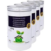 NortemBio Bicarbonato de Sodio 4x1.43kg, Insumo Ecológico de Origen Natural, Libre de