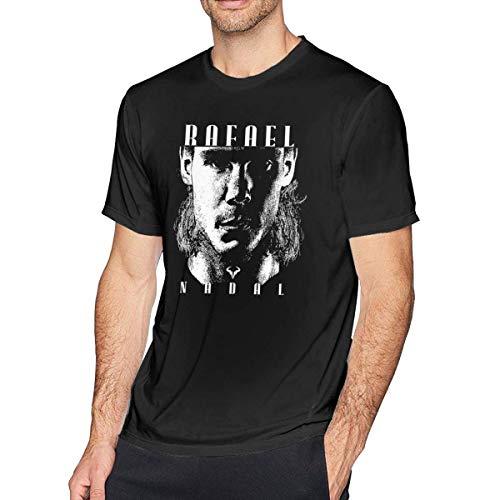 Herren Kurzarm T-Shirts,Rafael-Nadal-Tennis T-Shirt Men's Short-Sleeve T Shirts Summer Top Plus Size Four Grand Slam Tennis Tournament Logo 6XL Graphic Sports -