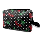 Cherry Toiletry Bag Waterproof Fabric Cosmetic Bags Travel Case for Women's Accessories