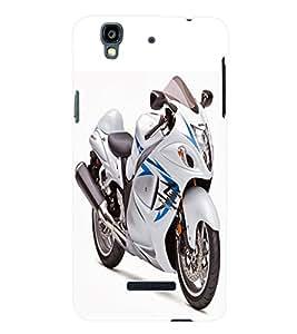 Fuson 3D Printed Suzuki Bike Designer Back Case Cover for Yu Yureka Plus - D881