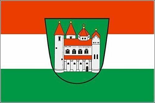 UB Aufkleber Amorbach 8 cm x 5 cm Flagge / Fahne (Autoaufkleber)