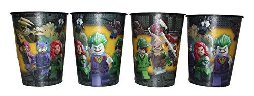 DC Universe Lego Batman Vaso Zumo Vasos Juego de 4