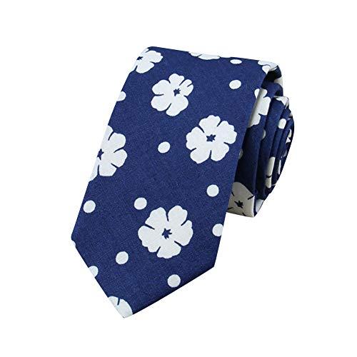 MISSMAOM Moda Clasica Corbata Para Hombre Multicolores Corbata Business Professional Fiesta de Bodas Clasico Corbata 10LightBlueFlower OneSize