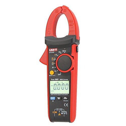 Uni-T UT216CDigitales Zangenmessgerät für Frequenz, Temperatur und NCV-Test, Effektivwerte, 600A