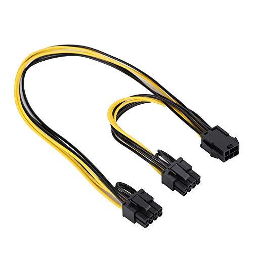ASHATA 6-polige Grafikkarte Doppel-PCI-E 8-poliges (6-polige + 2-polige) Splitter-Kabel für die Stromversorgung Kompatibel mit Allen Windows-Systemen,für Linux -