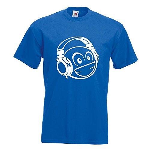 KIWISTAR - Smiley Smilie mit Köpfhörerm T-Shirt in 15 verschiedenen Farben  - Herren Funshirt