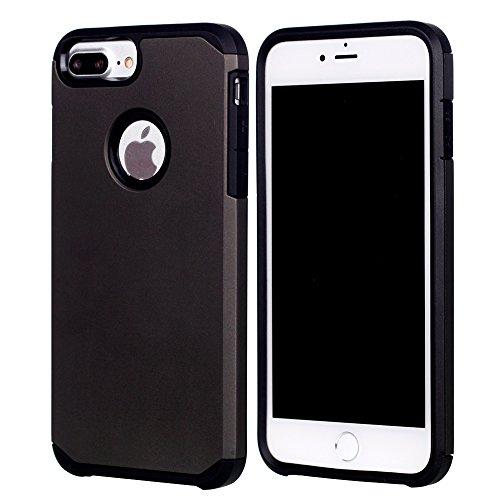 UKDANDANWEI Apple iPhone 7 Plus Dual Layer Fallschutz Anti-Scratch Rugged Armor Defender Case Tasche Schutzhülle für Apple iPhone 7 Plus - Grau Grau