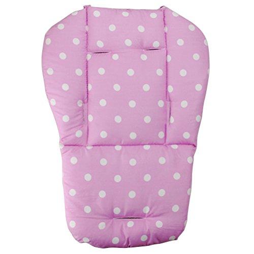YeahiBaby Kinderwagen Sitzauflage Wasserdichte Kinderwagen Einlage Weiche Kissen für Baby Punkt Muster(Rosa)