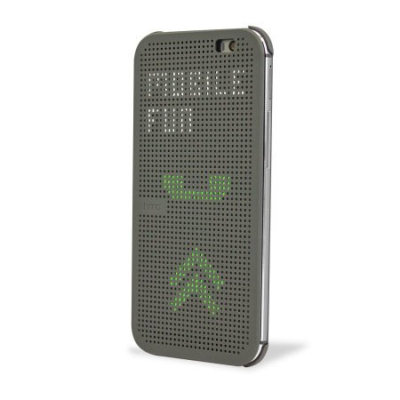 Generic Dot Matrix View Flip Case Cover For HTC Desire 620G 620 Dual Sim - Grey
