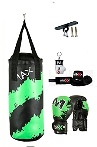 Maxx Junior punch bag set with 6oz gloves, hook or