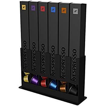 Porte capsules distributeur nespresso 80 dosettes recharges noir blanc cuisine - Porte capsules nespresso mural ...