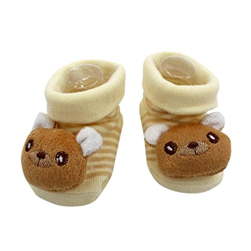 Cartoon Baby Socken, FNKDOR Neugeborenen Mädchen Jungen Schuhe Stiefel Söckchen (K)