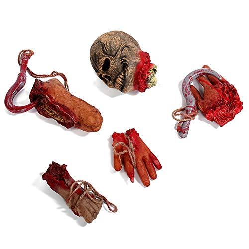 Halloween-Fake-Hand/Fuß, Horrific Halloween Party Strich-Requisite, lebensechte Fake Hand/Fuß Spukhaus Dekoration #1 Wie abgebildet (Halloween Fake Hand)