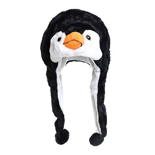Glamexx24 Tiermütze Wintermütze Hut Kopfbedeckung Kostüm Karneval Cap 3Hat, Schwarz, ()