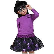 MYM boutique di abbigliamento per bambini maglioni maglione di cotone per bambini di fascia alta toccare il fondo maglione ragazze grosso maglione vergine + skirt , 6606 purple , 120