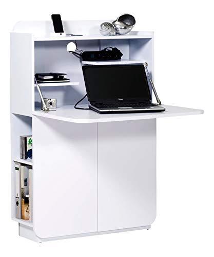 Marchio amazon -movian mjøsa - scrivania da segreteria, 80 x 28 x 119 cm, colore bianco lucido