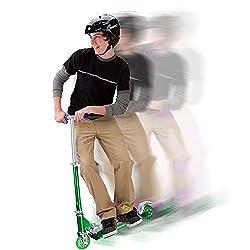 Kids Mandi (Tm) Smash Street Style Skateboard 4 Rounds Of Flash 3 To 12 Years Flashing Wheel (Green)