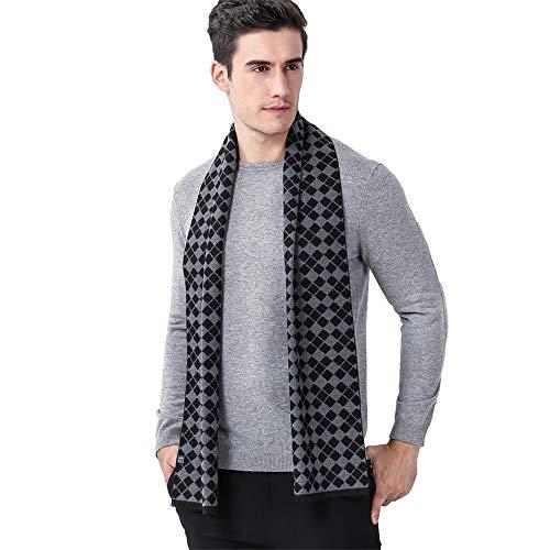 Belingeya Wrap-Schals für Herren Herren Herbst und Winter Business Lattice Warmer Schal gestrickte weiche thermische Schal Bekleidungszubehör ()