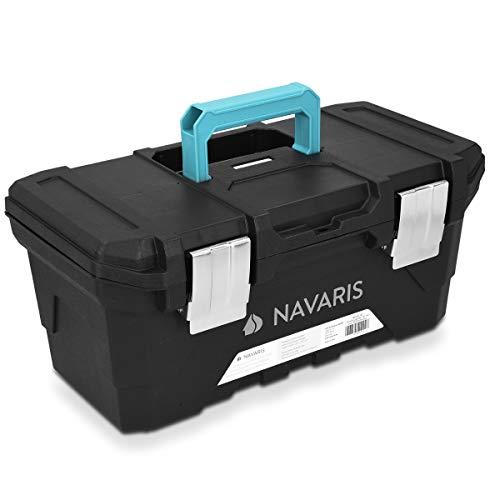 Navaris caja de herramientas de plástico - Organizador con 2 cierres de...