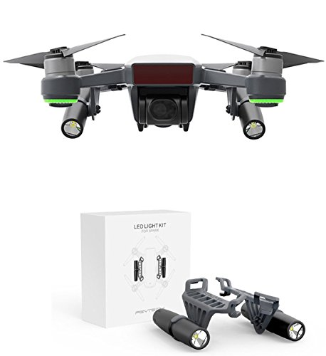 Crazepony-UK dji Spark Accesorios LED Light Kit Small Flashlight Long-Range Luminosity Adjustable Spark Drone Fill Flash,Night Cruise,Night Searching,Flash Warning,Direction Guide