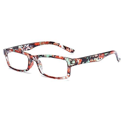 Inlefen Männer und Frauen Lesebrille rechteckigen Kunststoffrahmen Brillen +1.0 +1.5 +2.0 +2.5 +3.0 +3.5 +4.0