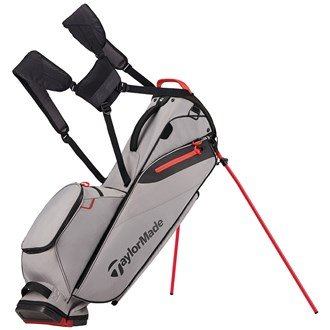 Taylormade Flextech Lite Bolsa para Palos de Golf, Hombre, Gris / Rojo,...