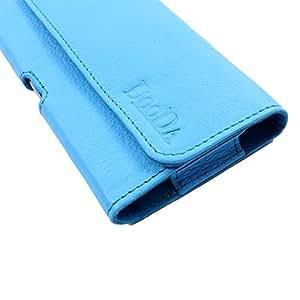 Dooda Genuine Leather Belt Pouch Case For Karbonn S4 Titanium (WHITE)