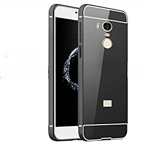 Redmi Note4 Back Cover Mirror Back Case Phone Protection Metal Bumper Acrylic Back Perfect Fit Black
