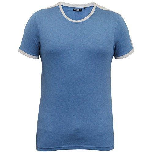Herren T-shirt Brave Soul Kurzärmeliges Top Rundhals Einfache Lässig Mode Sommer blau - 69pete