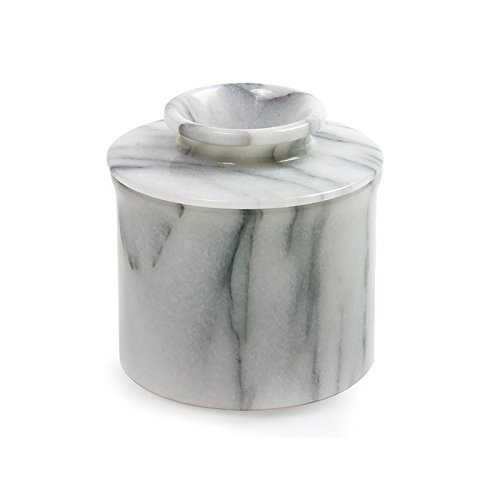 Norpro Butter Dish Crock Keeper Marble Porcelain Ceramic Stoneware New