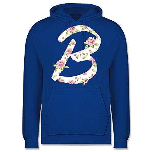 Anfangsbuchstaben - B Rosen - Männer Premium Kapuzenpullover / Hoodie Royalblau