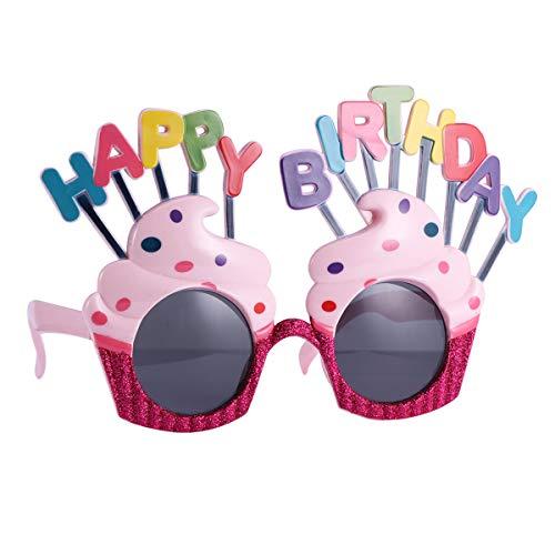 Amosfun 2 Paar Happy Birthday Sonnenbrillen Geburtstagstorte Eyelasses Birthday Party Favors