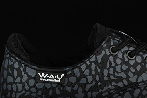 WAU Lightwind Wmns Black Grey Print Dark Black