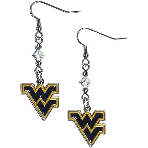 NCAA West Virginia Mountaineers Crystal Dangle Earrings