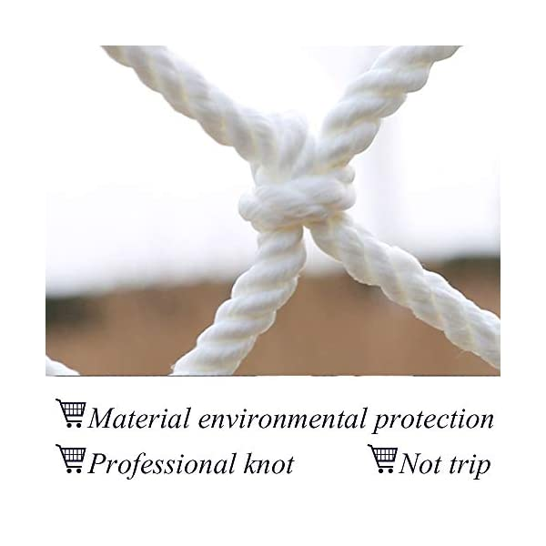 "HWJ Child Safety Net,Decor Net Protection Fence Climbing Woven Rope Truck Cargo Trailer Netting Net Mesh Nets,for Rail Balcony Banister Stair Playground Children Indoor Decoration Outdoor HWJ ★Material of the kids protective netting: expanded polyester. ★Characteristics of decoration net: soft material, light mesh, multi-layer warp and weft, precise wiring, workmanship; high temperature sunscreen, waterproof; clear lines, anti-slip endurance and anti-wear. ★Mesh size*rope diameter:3cm*4mm(1.2""*5/32) , 5cm*6mm(2""*15/64) , 10cm*6mm(4""*15/64).Length*width: please make purchase according to your actual needs.We have any other size (rope diameter, mesh, length * width) rope net, support customization.If you have any questions or needs, please contact us. 2"
