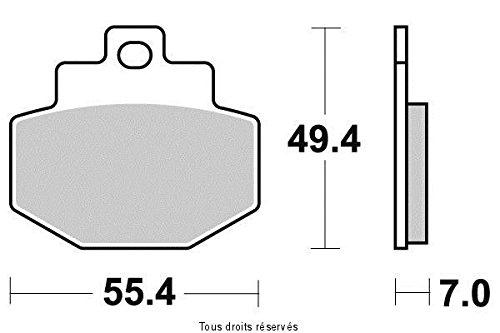 PASTIGLIE FRENI SEMI METALLICHE PIAGGIO VESPA GTS 250 2005-2014 POSTERIORE ( KYOTO-SIF )